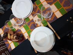 Chemin de table en Kente KWESIDA - Lokodia