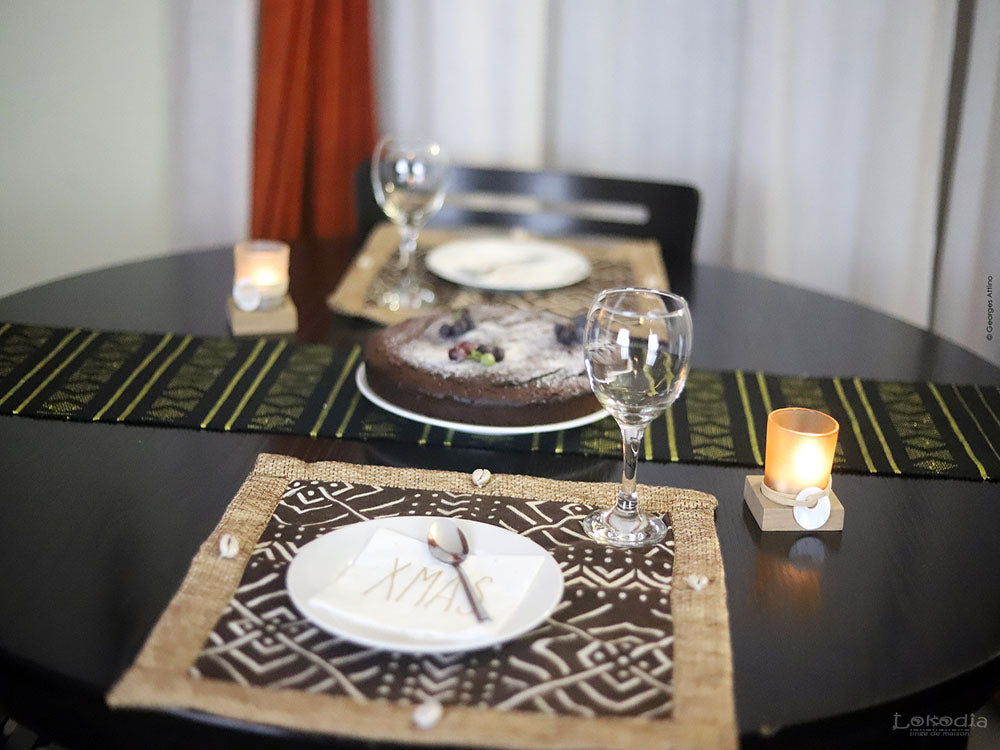 Duo de sets de table en bogolan SAWADOGO