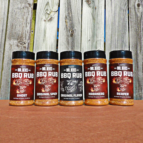 The Mr. Bevis BBQ Rub Collection
