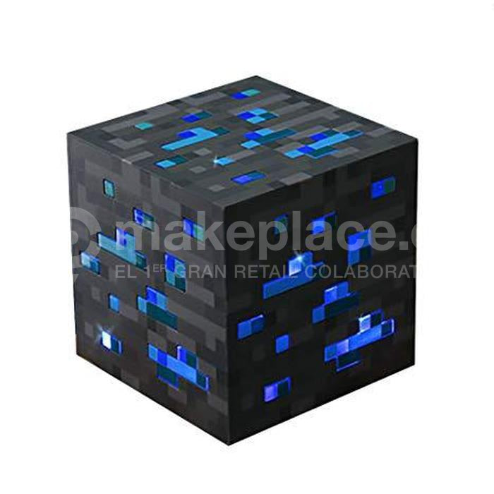 Cubo De Luz Led Diamantes Video Juego Minecraft