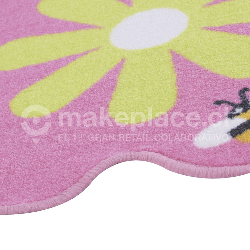 ALFOMBRA KIDS COLLECTTION 057X057 FLOR ROSADO Makeplace