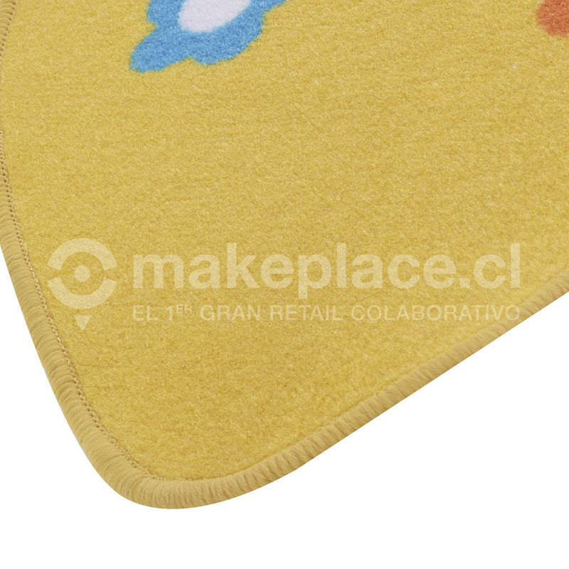 ALFOMBRA KIDS COLLECTTION 057X057 CORAZON AMARILL Makeplace