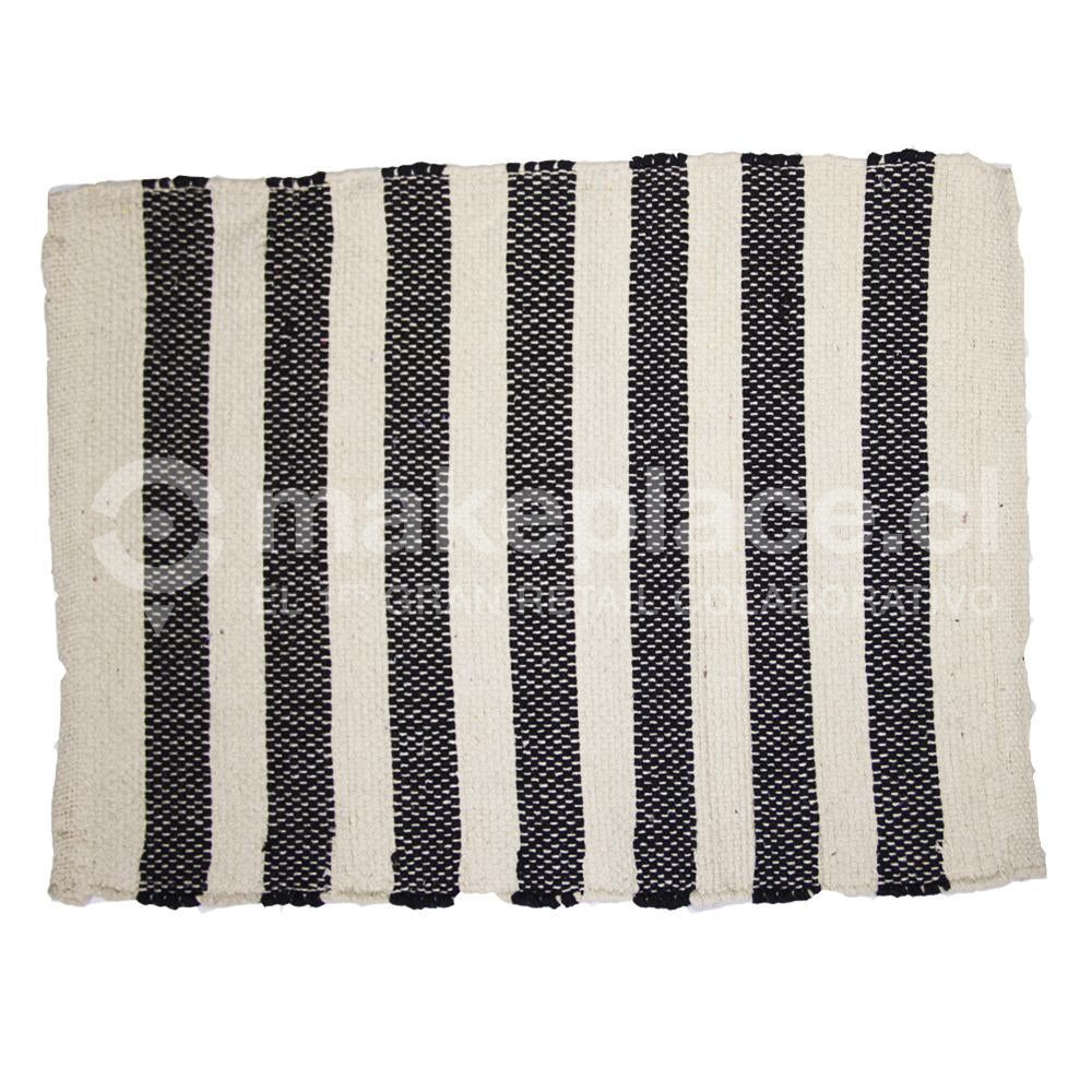 BAJADA DE CAMA DH. COTTON MAT 040X060 NEGRO Makeplace