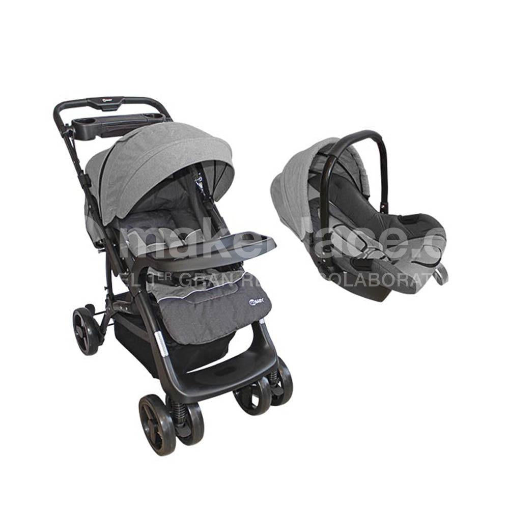 Coche Travel System Gris BS-F08C