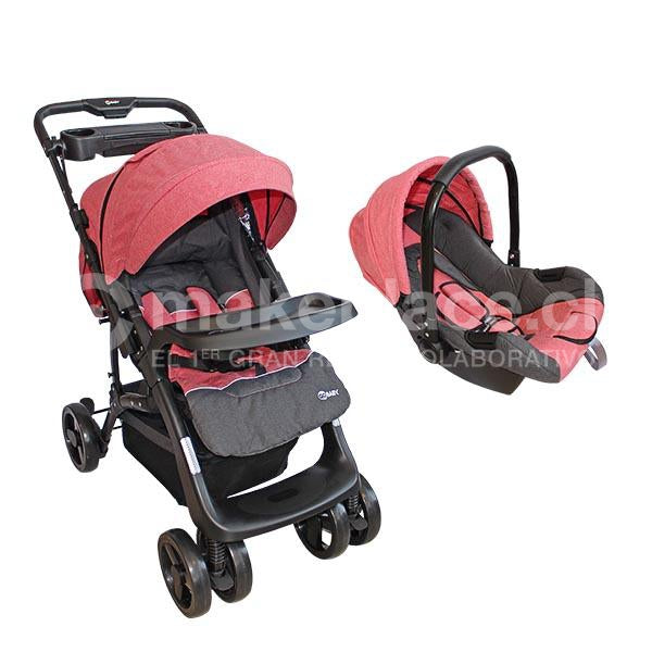Coche Travel System Rosado BS-F08C