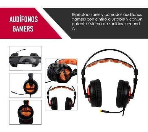 Audífonos Gamer Pro A6 USB Surround 7.1 Ps4 Pc