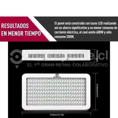 Panel Lámpara Led Cultivo Espectro Completo 300w