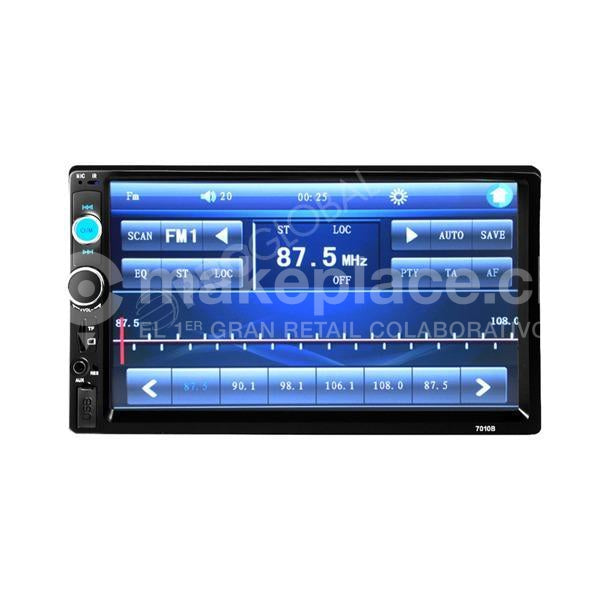 Radio Auto Doble Din Touch 7  Bluetooth + Cámara
