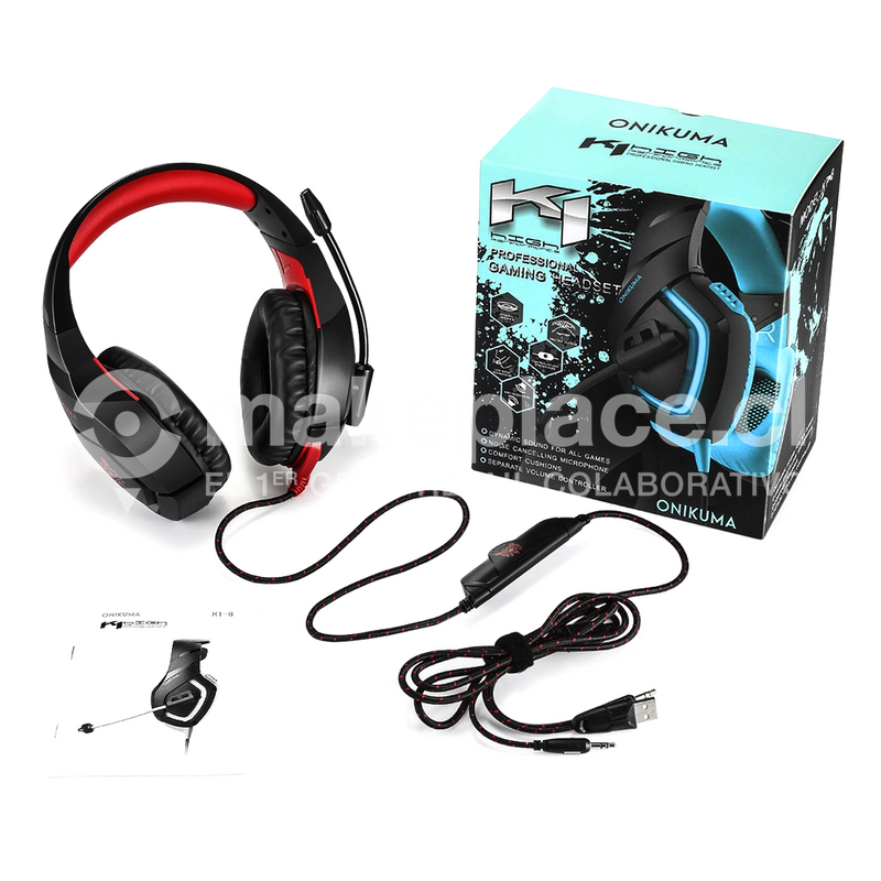 Audifonos Gamer K1-B Mic Xbox 360 - One - Ps3 - Ps4