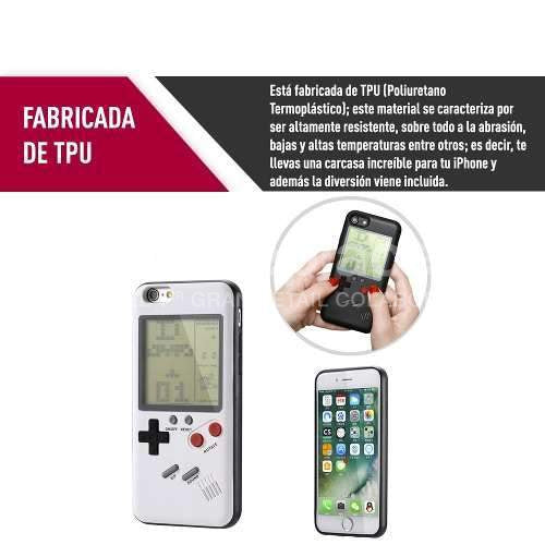 Carcasa Gameboy Tetris Iphone 7 u 8 Blanco