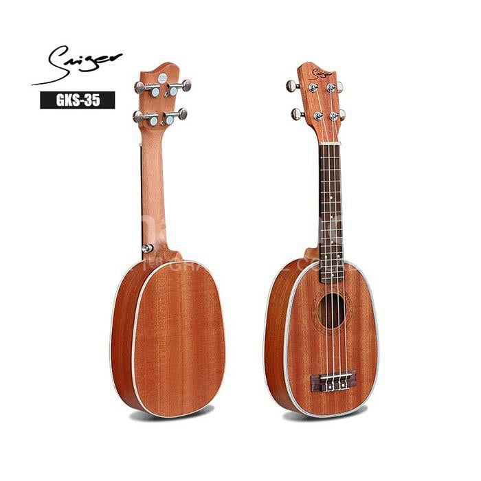 Ukelele Soprano Grape Tipo Piña 100% Caoba Solido