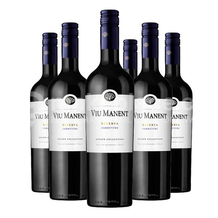 Pack Viu Manent Estate Reserva Carmenere, 6 Botellas