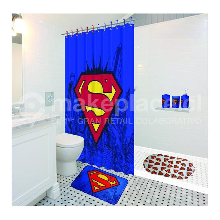 Cortina De Baño Superman Logo