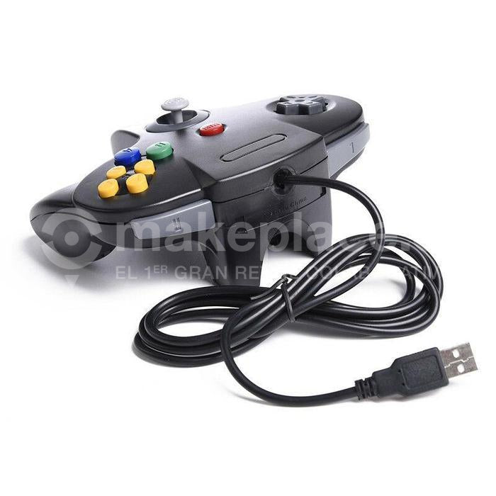 Control Usb Nintendo 64 Pc Notebook Joystick Negro
