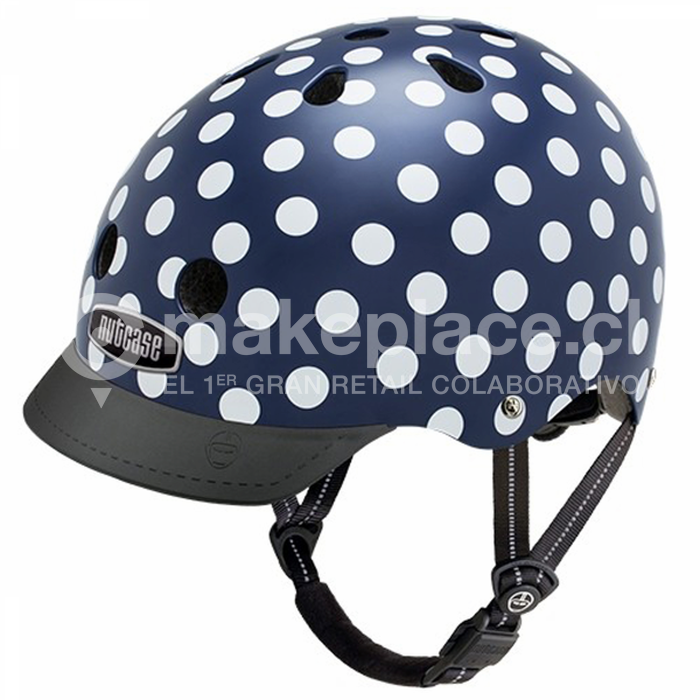Casco Nutcase Navy Dots Talla M