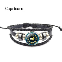Capricorn Zodiac Leather Bracelet