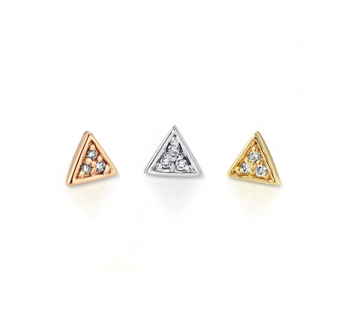 Micro Pave Triangle