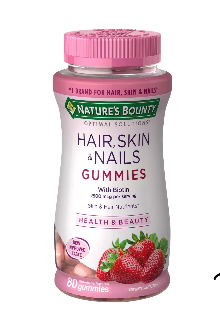 Hair Skin & Nails Gummies Strawberry Flavoured 80 Capsules