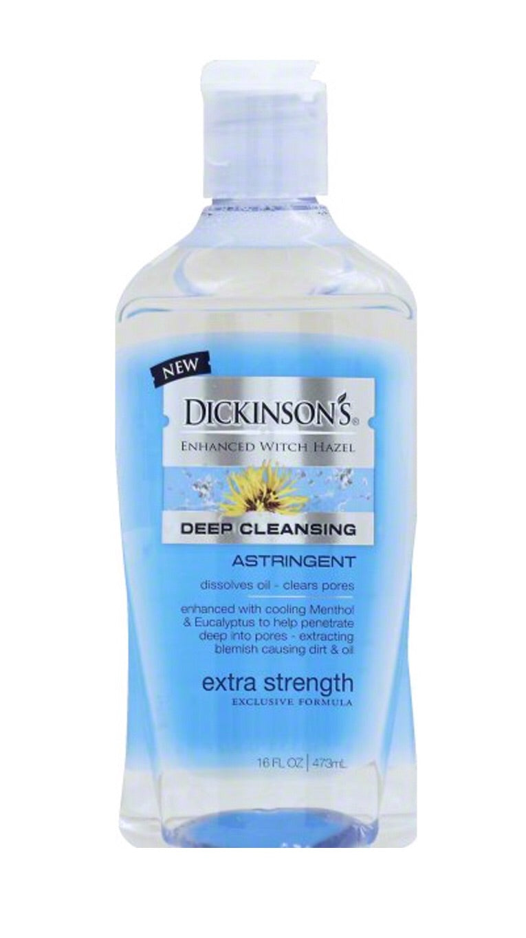 Dickinsons Enhanced Witch Hazel Deep Cleansing 16 FL oz Extra Strength