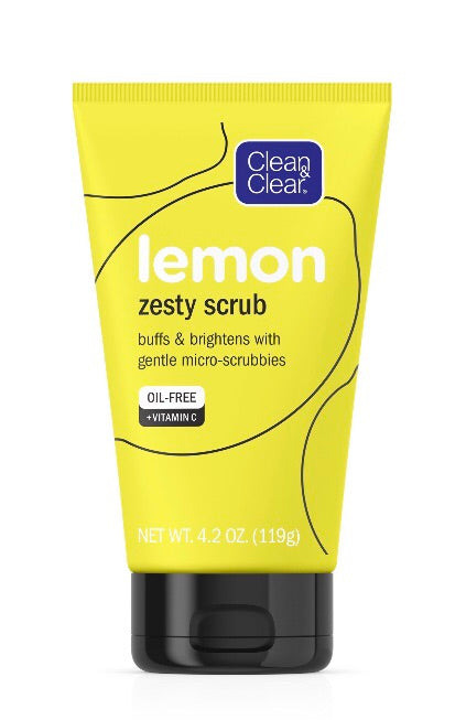 Lemon Zesty Oil Free Face Scrub with Vitamin C, 4.2oz