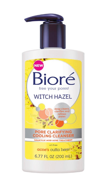 Biore Witch Hazel Pore Clarifying Cooling Cleanser 6.77 oz