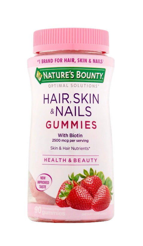 Hair, Skin & Nails Gummies Strawberry 🍓 90 capsules