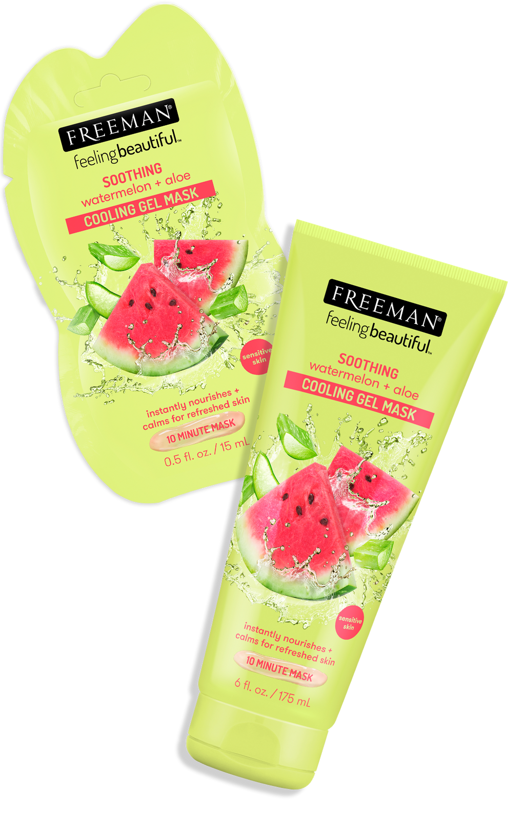 Freeman Soothing Watermelon +aloe Cooling Gel Mask