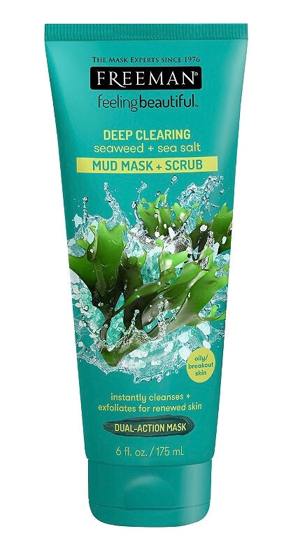 Deep Clearing Seaweed + sea Salt Mud Mask + Scrub