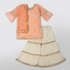 Peach Kurta with Sharara Set