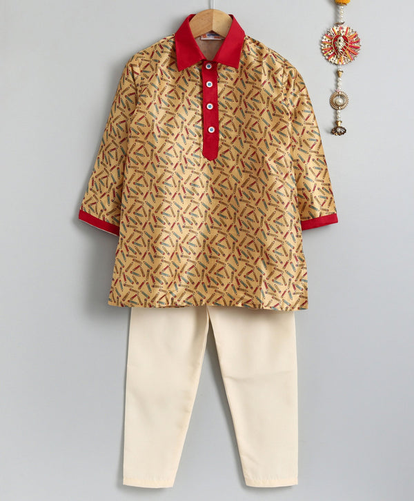 Colourful Pencil Kurta Pyjama Set for Boys
