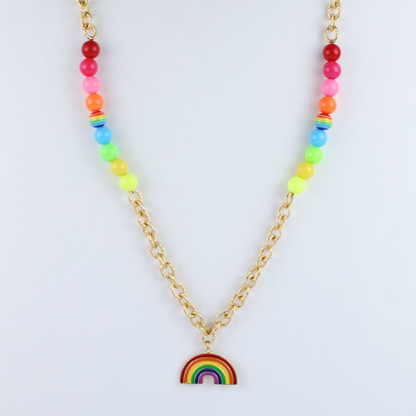 Rainbow Charm Colourful Beads Necklace