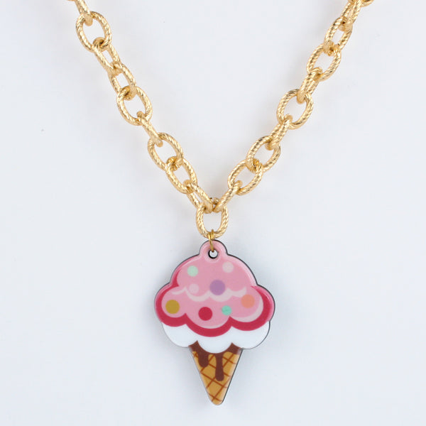Ice-Cream Charm Colourful Beads Necklace
