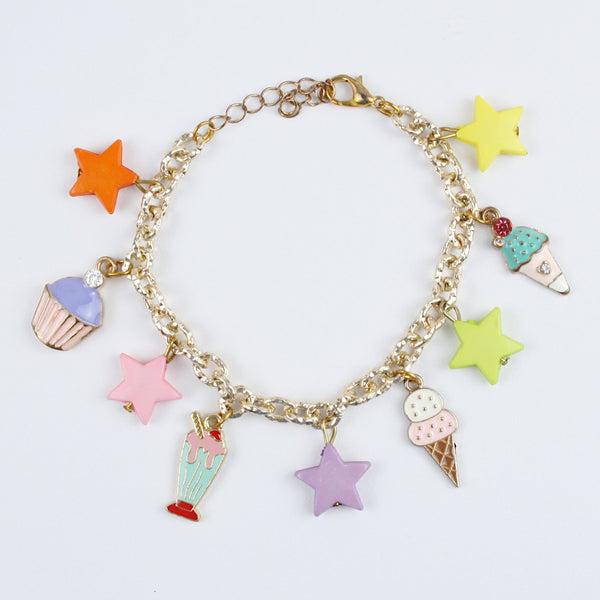 Ice-Cream & Stars Chain Bracelet