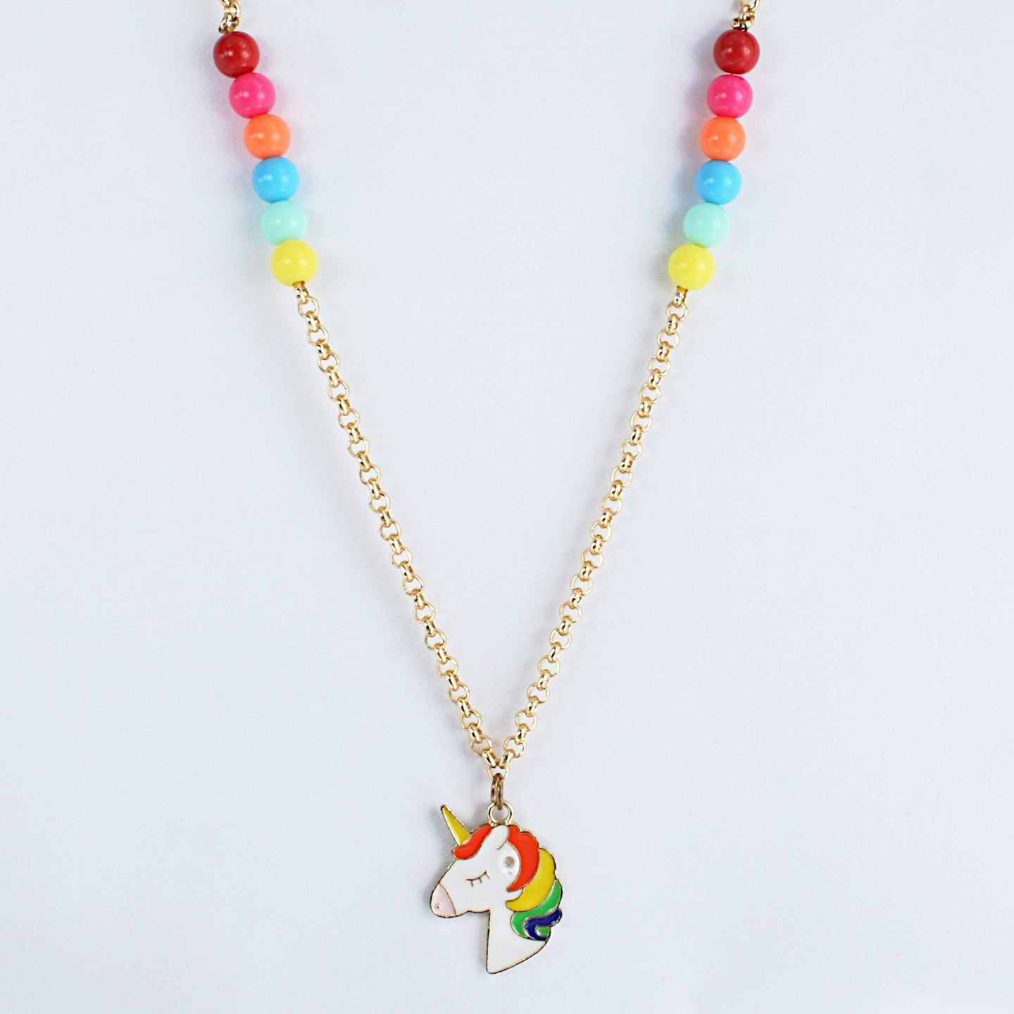 Unicorn Metal Charm Chain Necklace - Kids Size