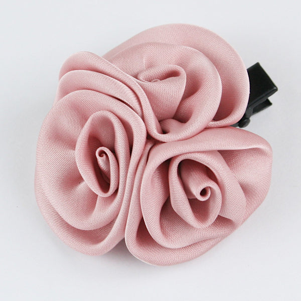 Three Roses Hairclip - Wine Pink