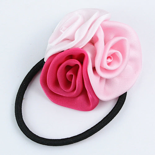 Three Roses Hairtie - Pink & White