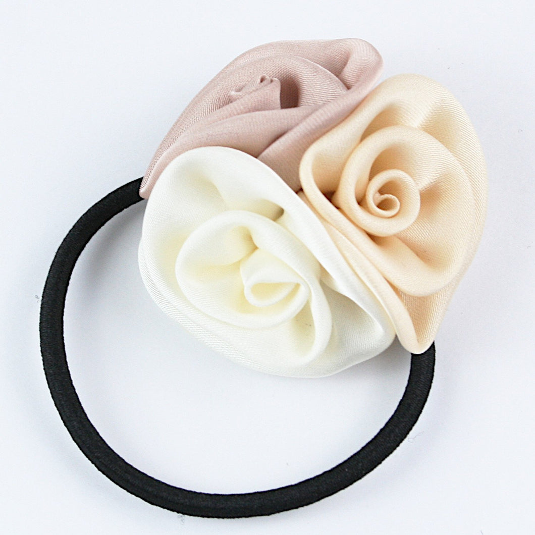 Three Roses Hairtie - Cream