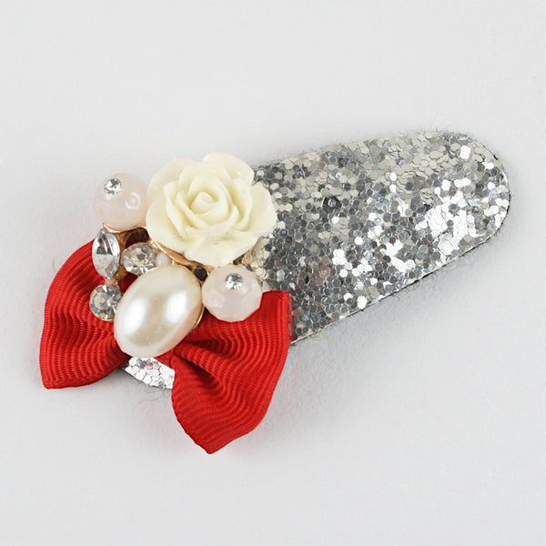 Fancy Stone Glitter Tic-Tac Hair Clip