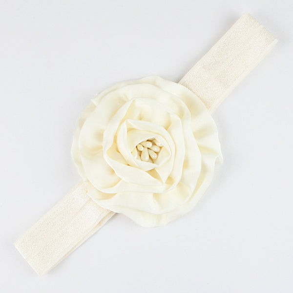 White Flower Soft Head Band