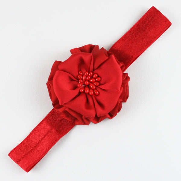 Red Flower Soft Head Band