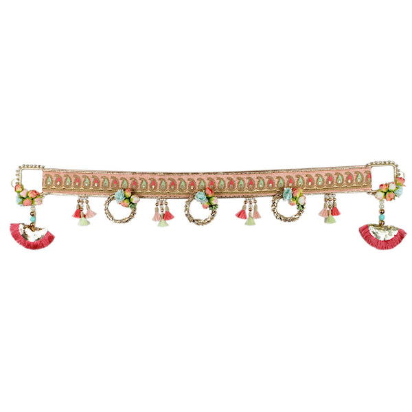 Keri Embroidered Border Toran with Bell Hangings