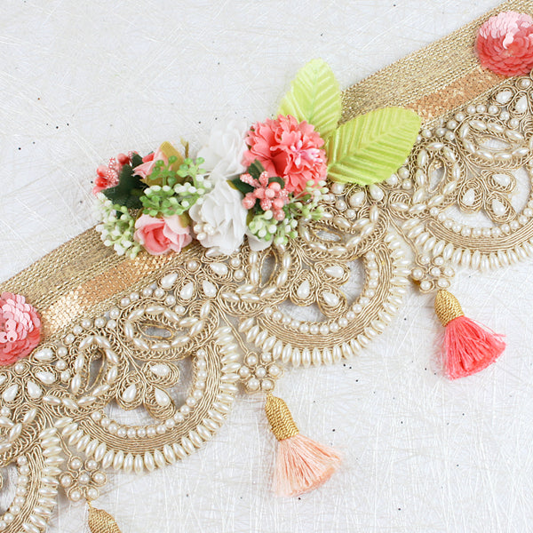 Cutwork Design on Jute Lace Toran