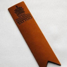 Load image into Gallery viewer, Tattoo Leather Bookmark