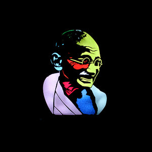 Mahatma Gandhi Light Art QBox-QBox Store