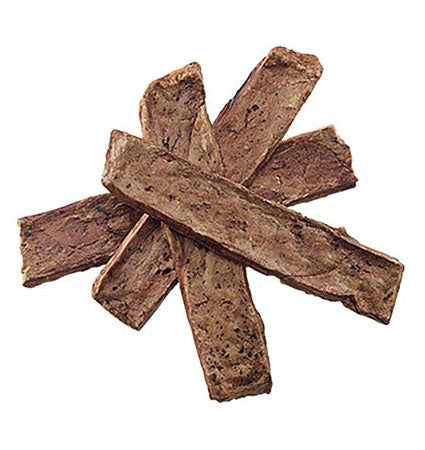 Crumps Beef Lung sticks loose on a white background