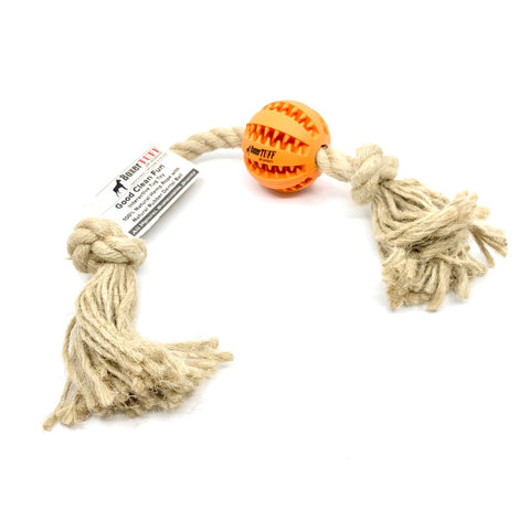 All-Natural Hemp and Rubber Tug Toy
