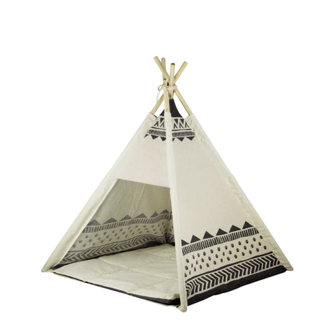 Be One Breed Aztec Dog Teepee Bed