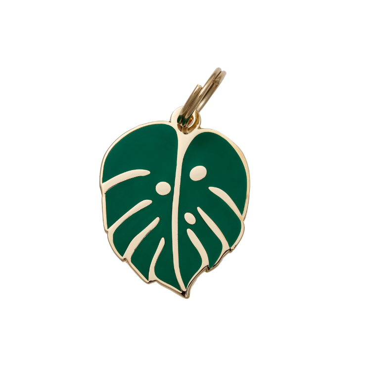 Pet I.D. Tag - Monstera Leaf