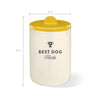 """Best Dog"" Ochre Ceramic Treat Jar"