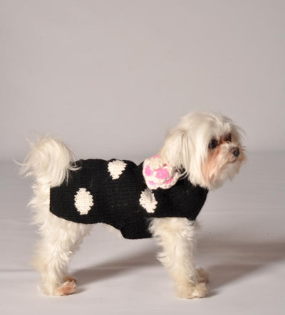 Polka-Dot with Flower Sweater